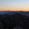 27.野口五郎岳からの夜明けの山並